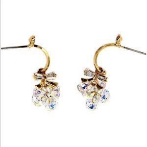 Lovely gold swarovski crystal earrings